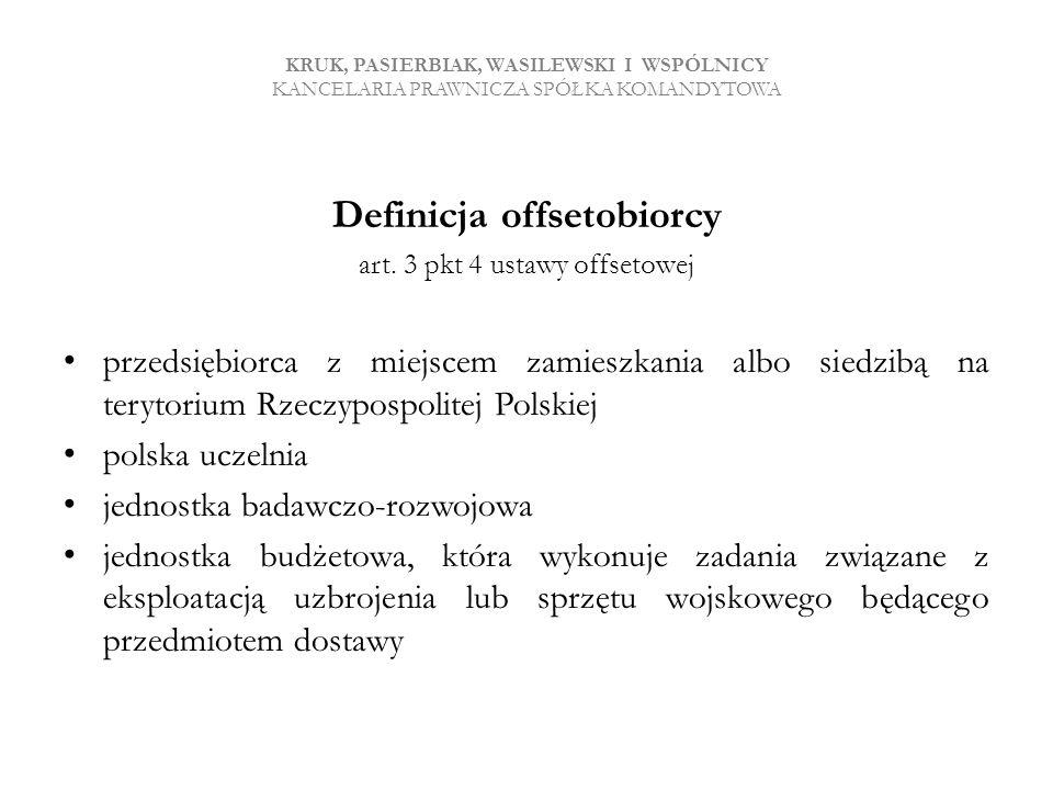 Definicja offsetobiorcy