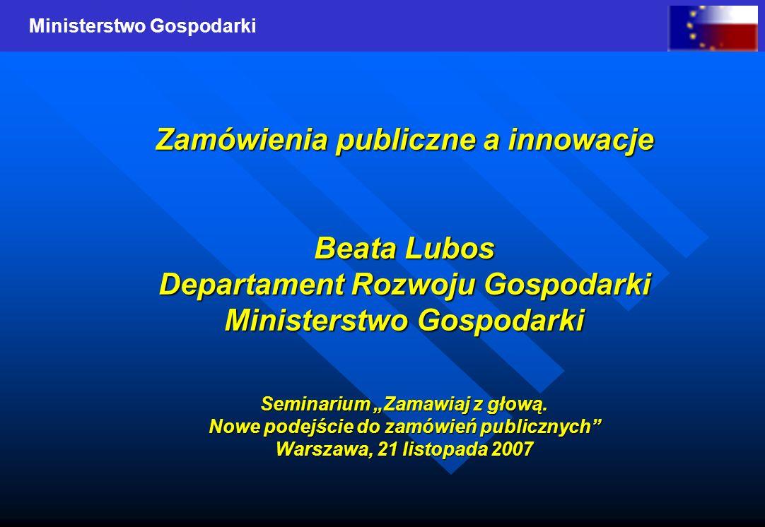 Zamówienia publiczne a innowacje
