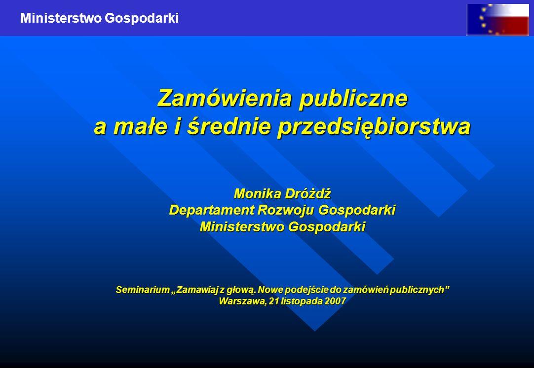 Zamówienia publiczne a małe i średnie przedsiębiorstwa