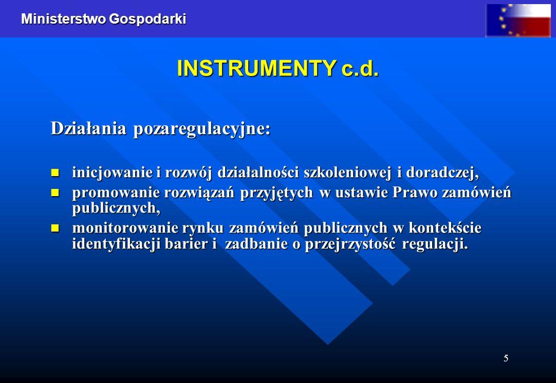 INSTRUMENTY c.d. Działania pozaregulacyjne: