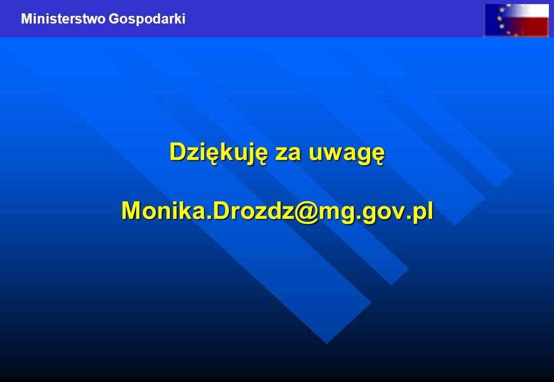 Dziękuję za uwagę Monika.Drozdz@mg.gov.pl