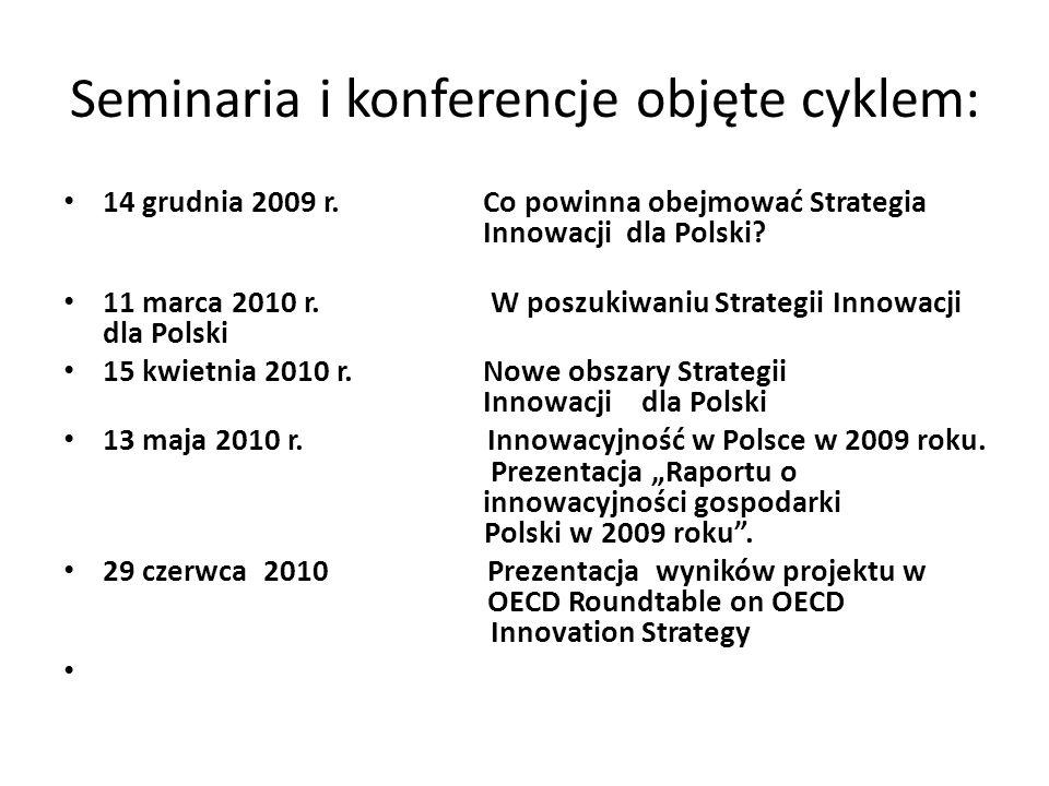 Seminaria i konferencje objęte cyklem:
