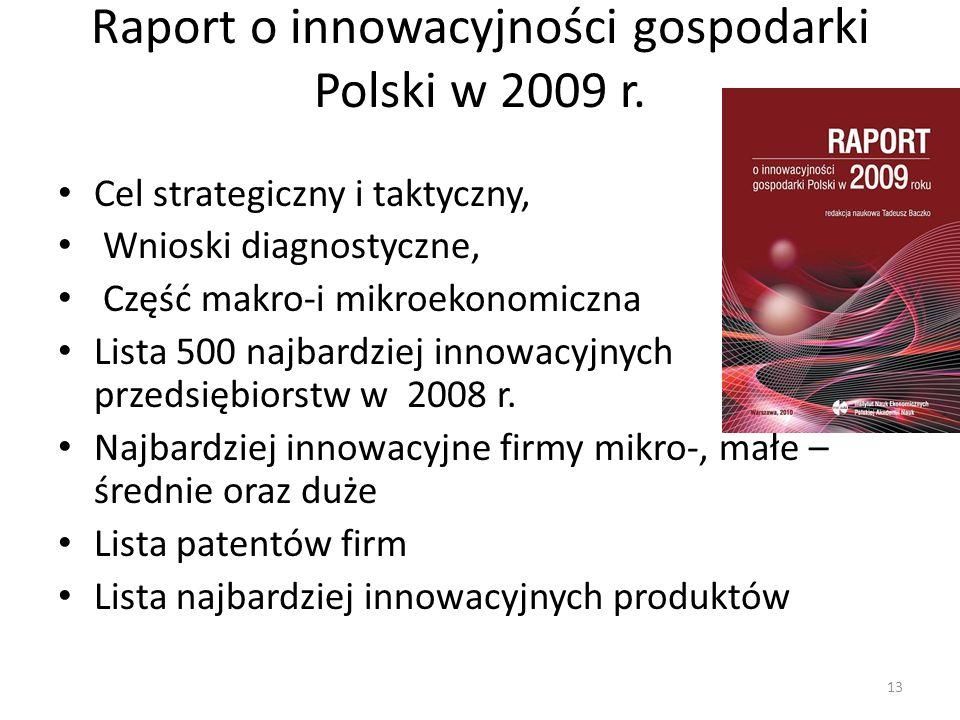 Raport o innowacyjności gospodarki Polski w 2009 r.