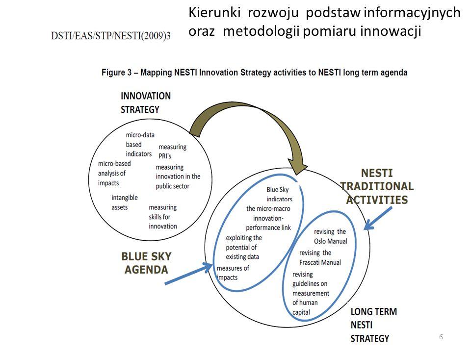 Kierunki rozwoju podstaw informacyjnych oraz metodologii pomiaru innowacji