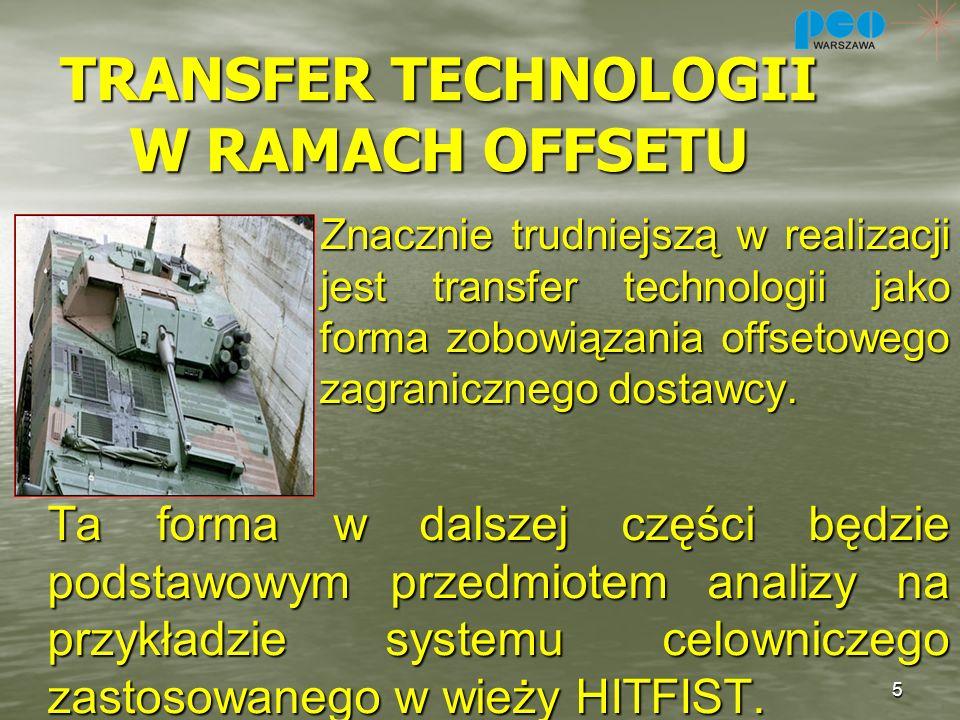 TRANSFER TECHNOLOGII W RAMACH OFFSETU