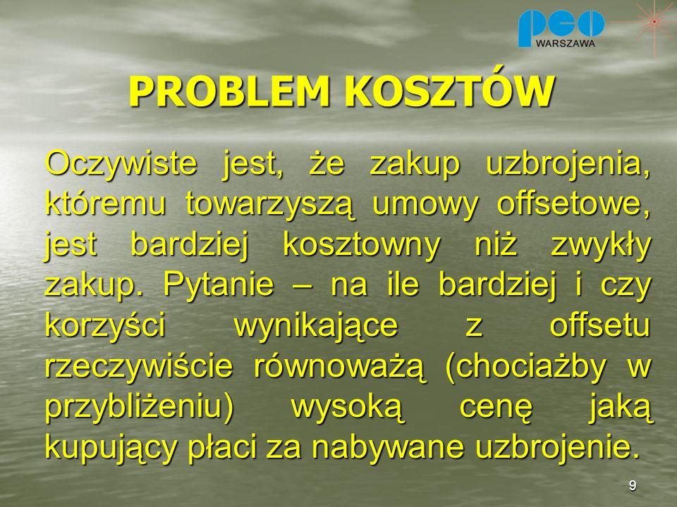 PROBLEM KOSZTÓW