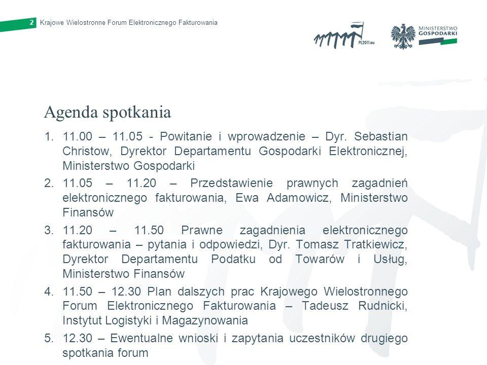Krajowe Wielostronne Forum Elektronicznego Fakturowania