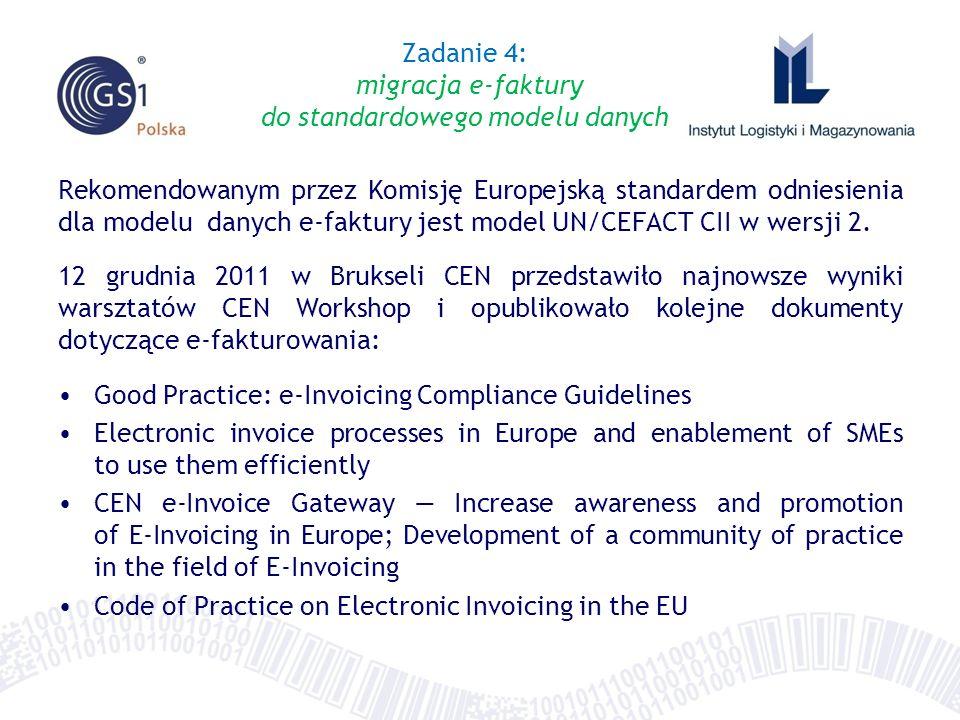 Zadanie 4: migracja e-faktury do standardowego modelu danych