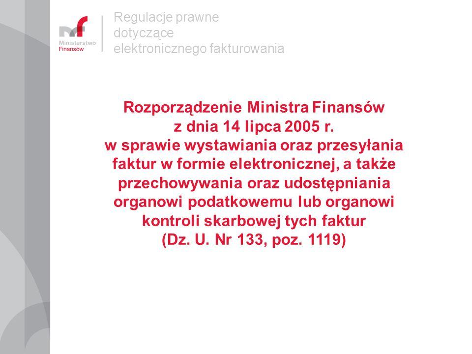 Rozporządzenie Ministra Finansów z dnia 14 lipca 2005 r.