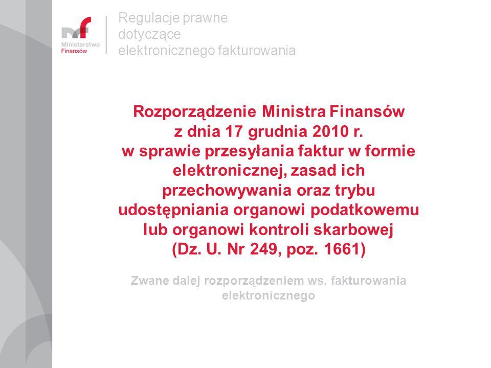 Regulacje prawne dotyczące elektronicznego fakturowania