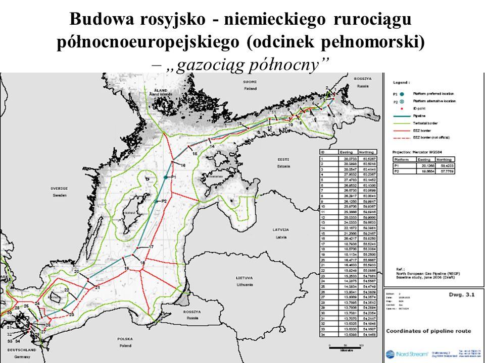 """Budowa rosyjsko - niemieckiego rurociągu północnoeuropejskiego (odcinek pełnomorski) – """"gazociąg północny"""
