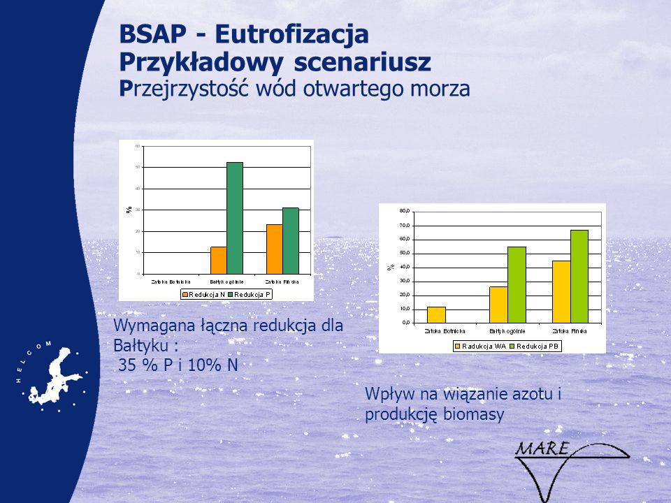 BSAP - Eutrofizacja Przykładowy scenariusz Przejrzystość wód otwartego morza