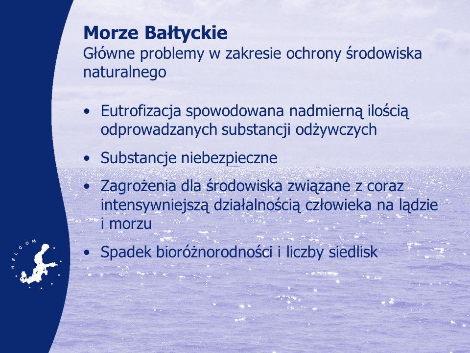 Morze Bałtyckie Główne problemy w zakresie ochrony środowiska naturalnego