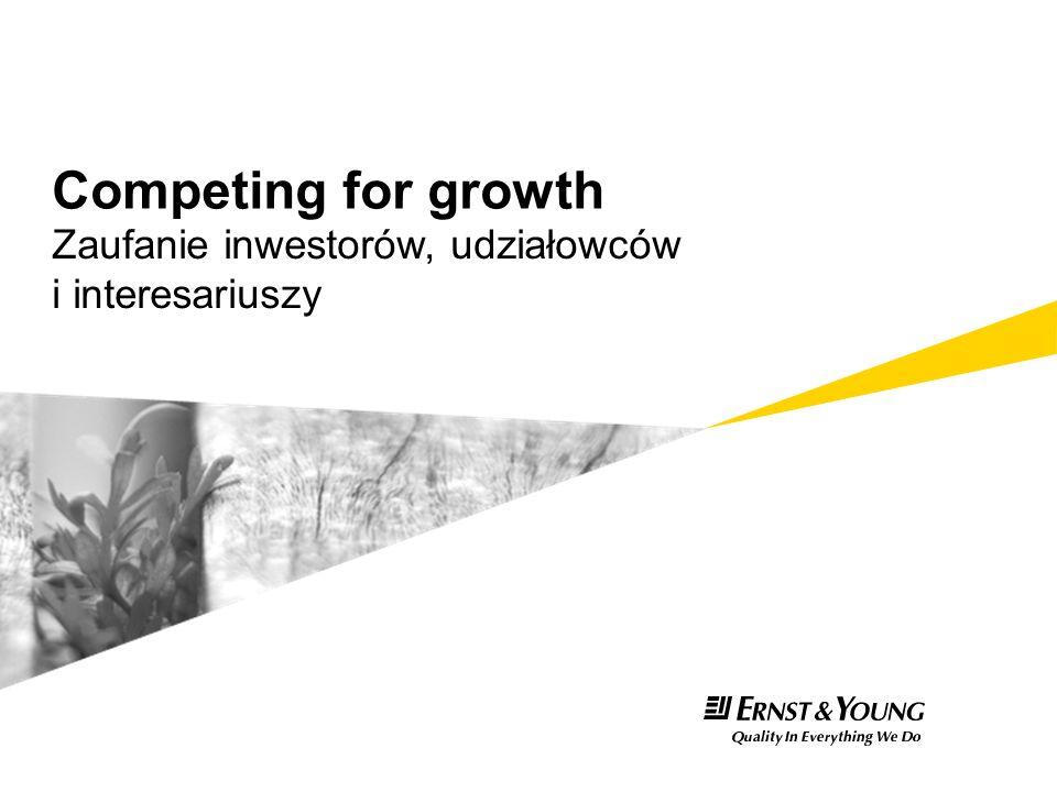 Zaufanie inwestorów, udziałowców i interesariuszy