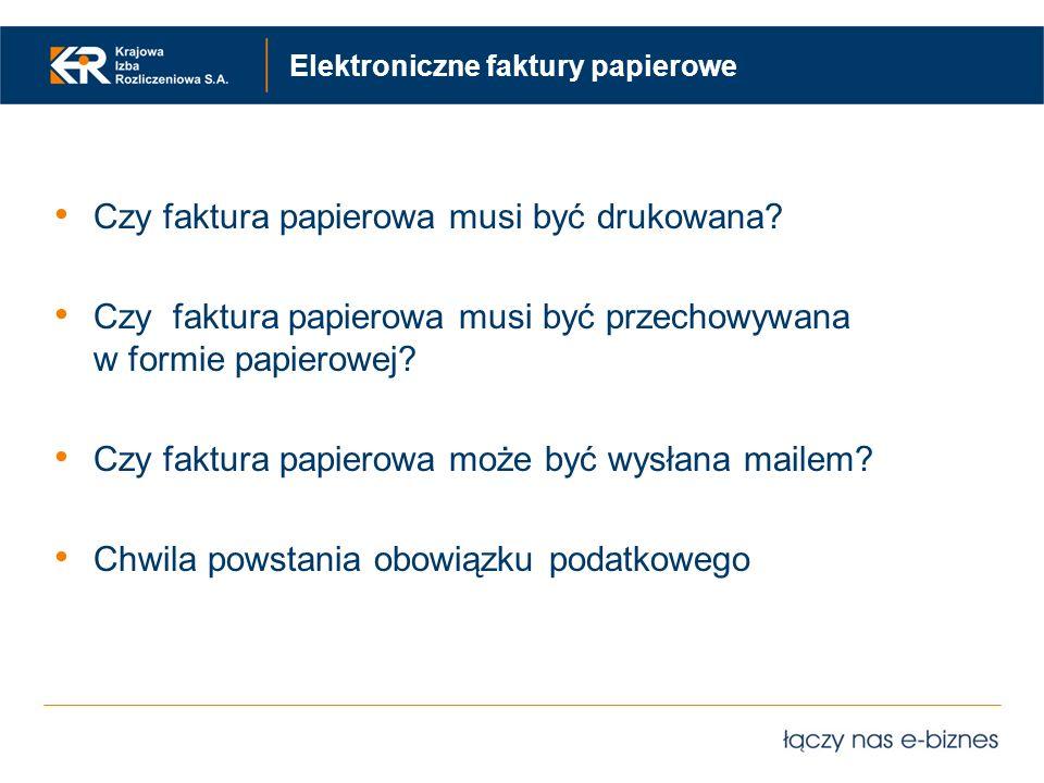 Elektroniczne faktury papierowe