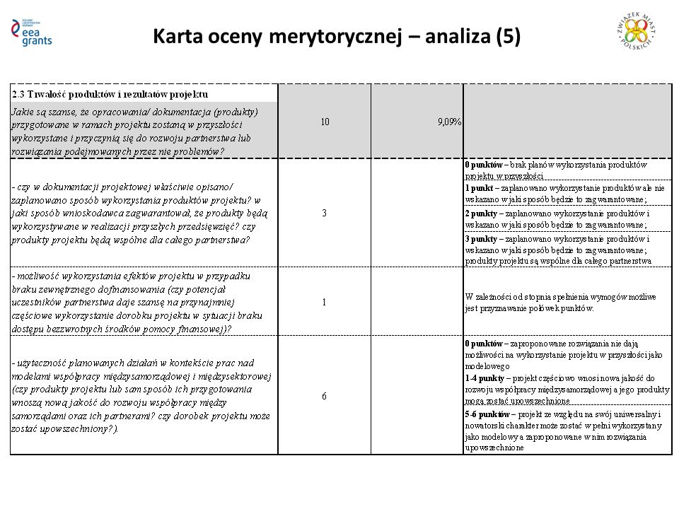 Karta oceny merytorycznej – analiza (5)