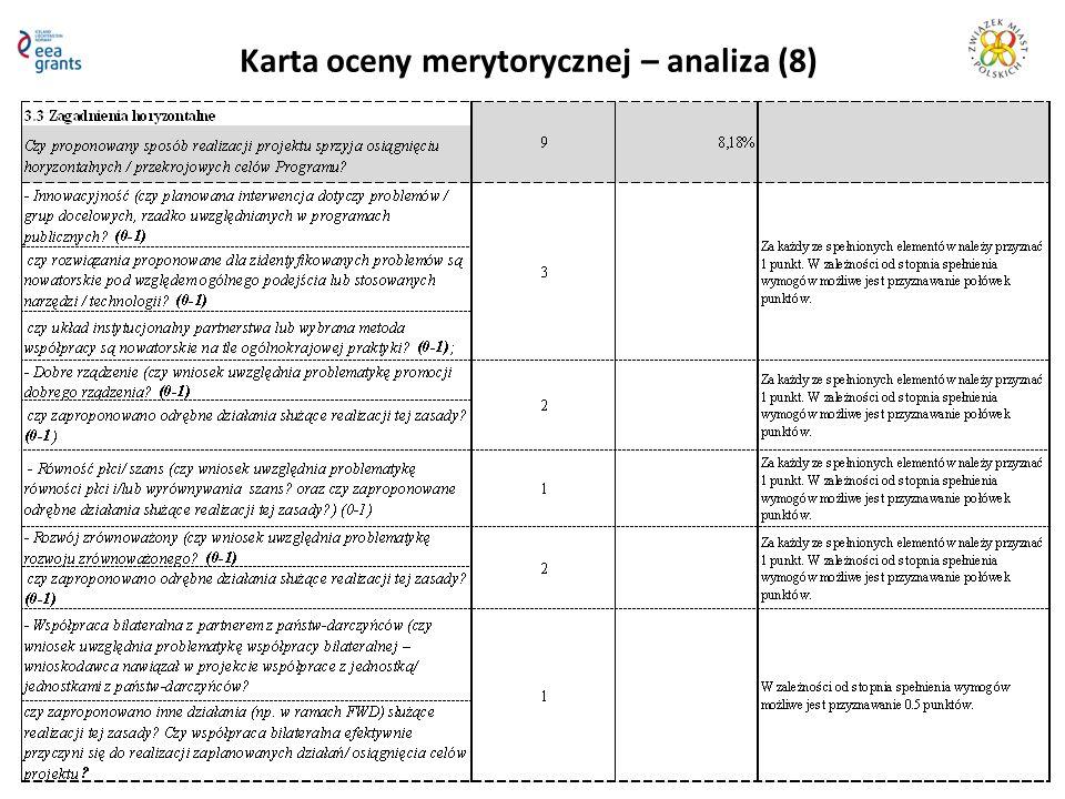 Karta oceny merytorycznej – analiza (8)