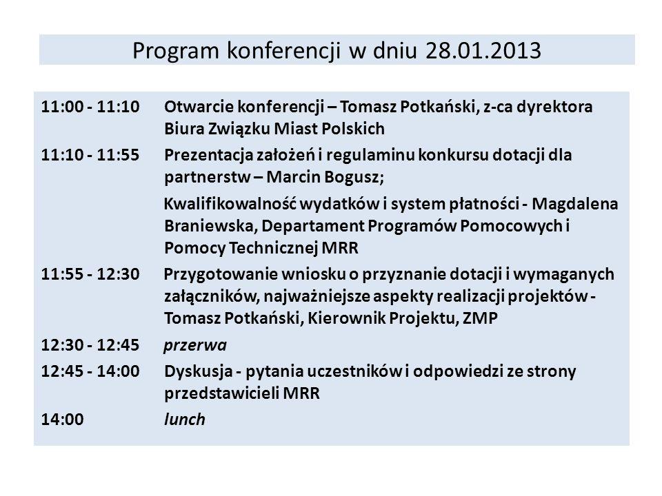 Program konferencji w dniu 28.01.2013