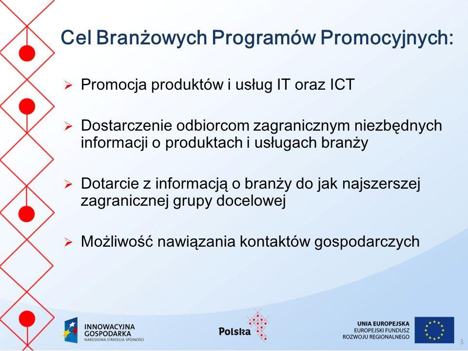 Cel Branżowych Programów Promocyjnych: