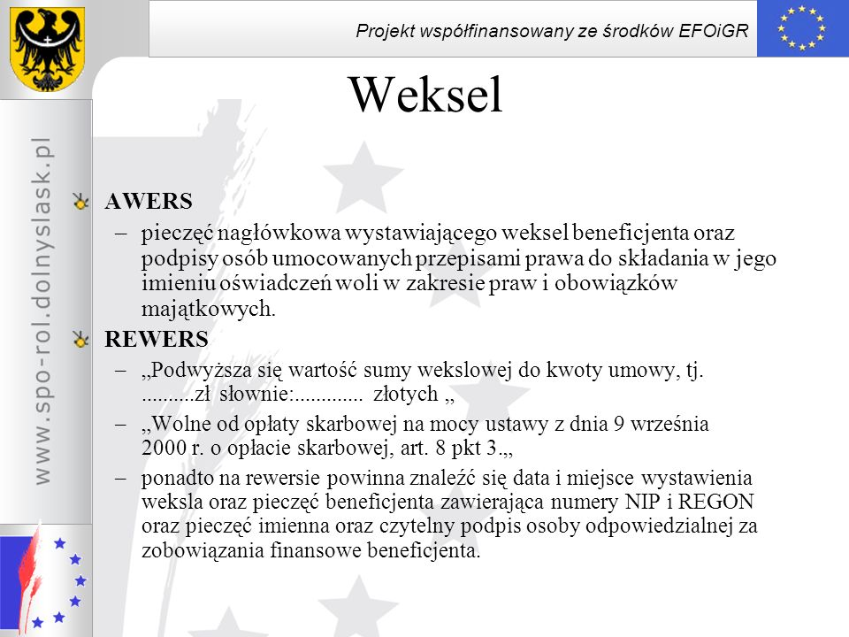 Weksel AWERS.