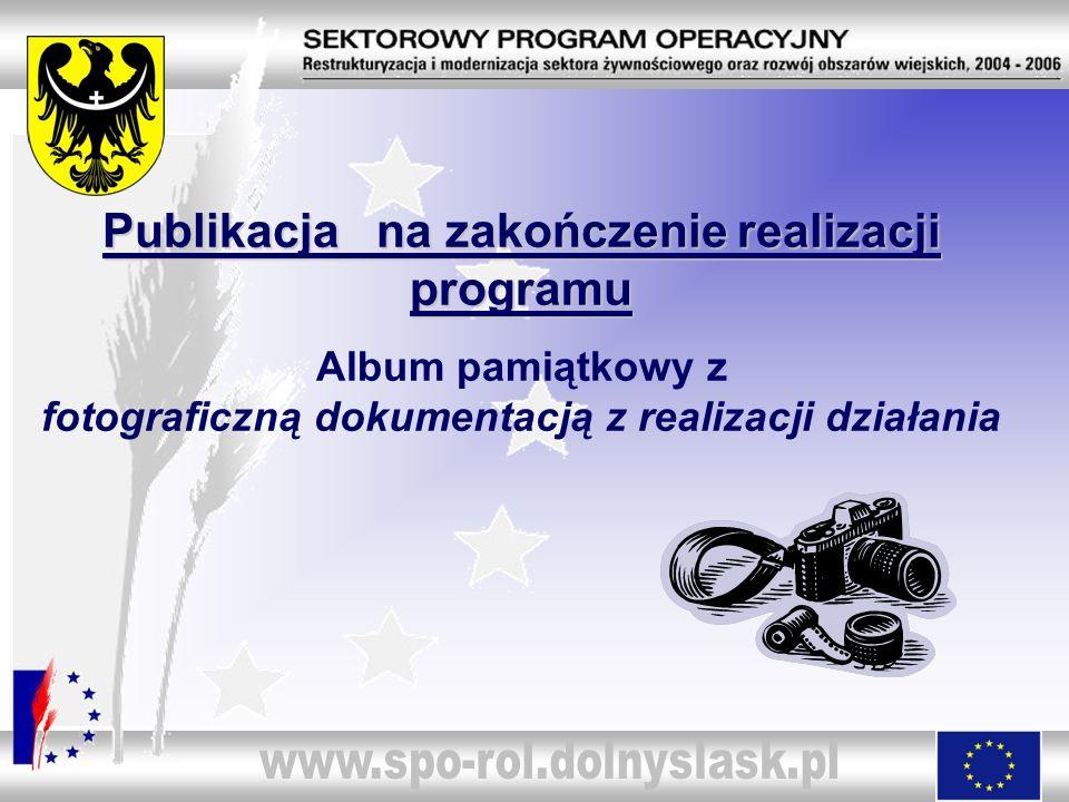 Publikacja na zakończenie realizacji programu