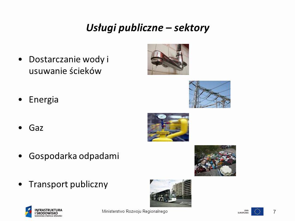 Usługi publiczne – sektory