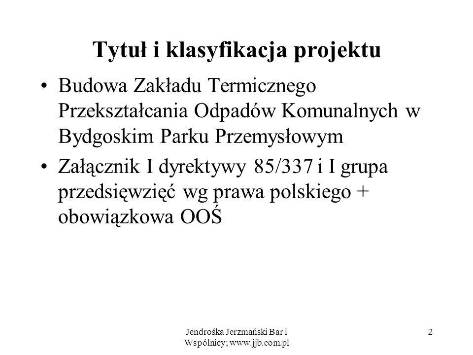 Tytuł i klasyfikacja projektu