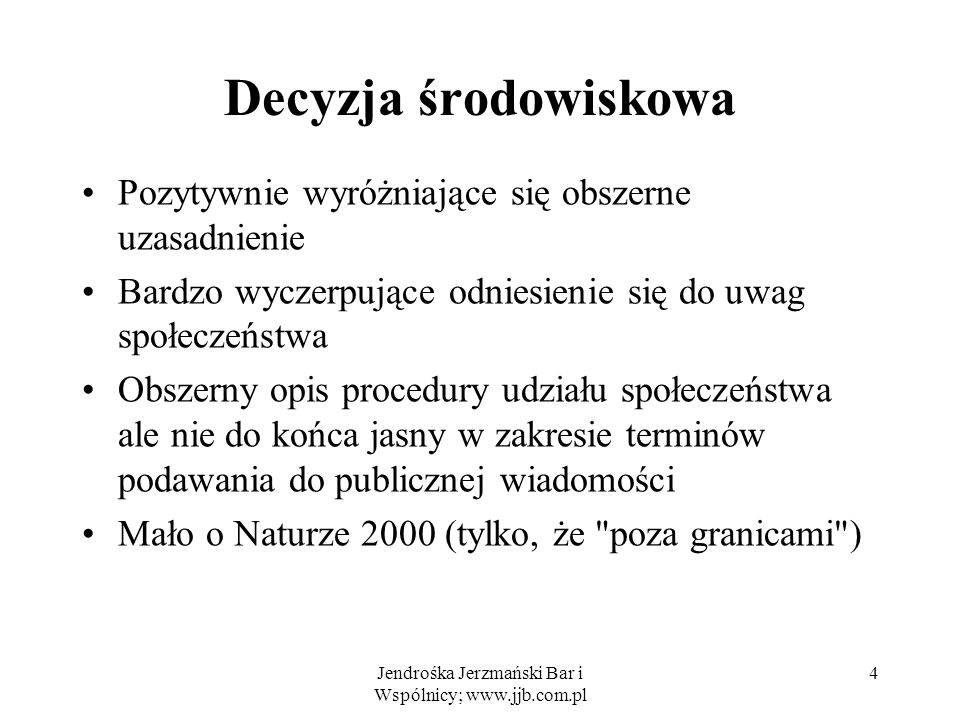Jendrośka Jerzmański Bar i Wspólnicy; www.jjb.com.pl