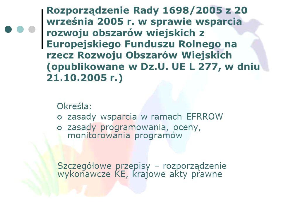 Rozporządzenie Rady 1698/2005 z 20 września 2005 r
