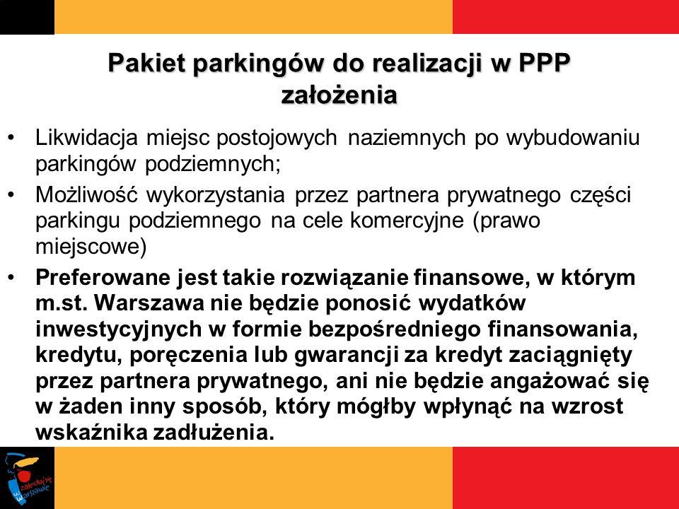 Pakiet parkingów do realizacji w PPP założenia