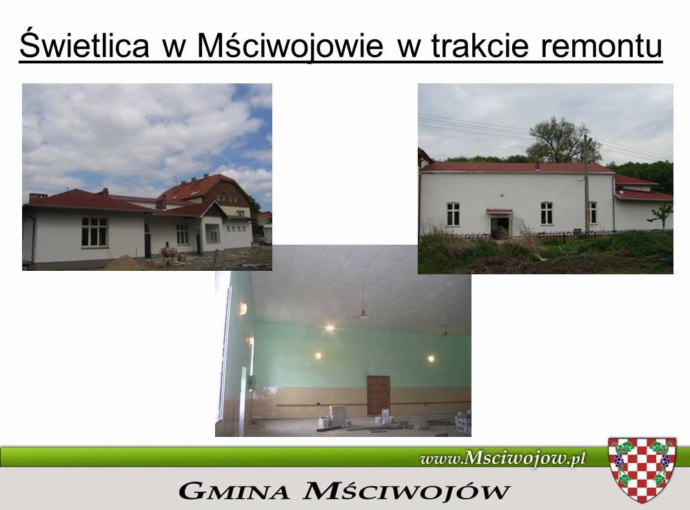 Świetlica w Mściwojowie w trakcie remontu