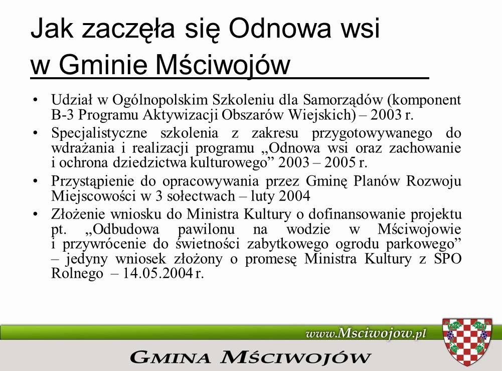 Jak zaczęła się Odnowa wsi w Gminie Mściwojów
