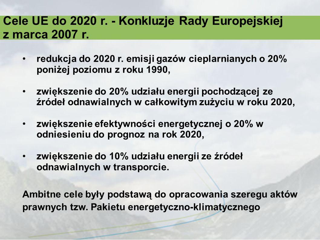 Cele UE do 2020 r. - Konkluzje Rady Europejskiej z marca 2007 r.