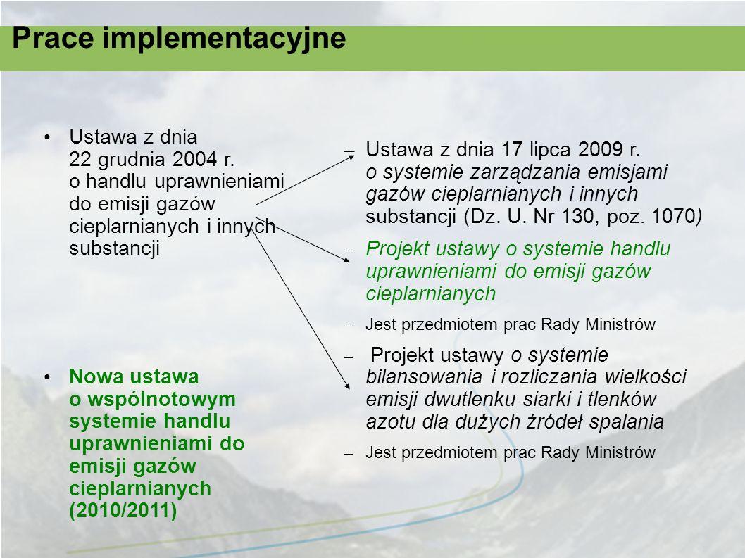 Prace implementacyjne
