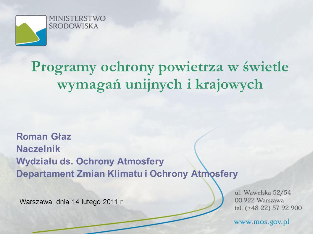 Programy ochrony powietrza w świetle wymagań unijnych i krajowych