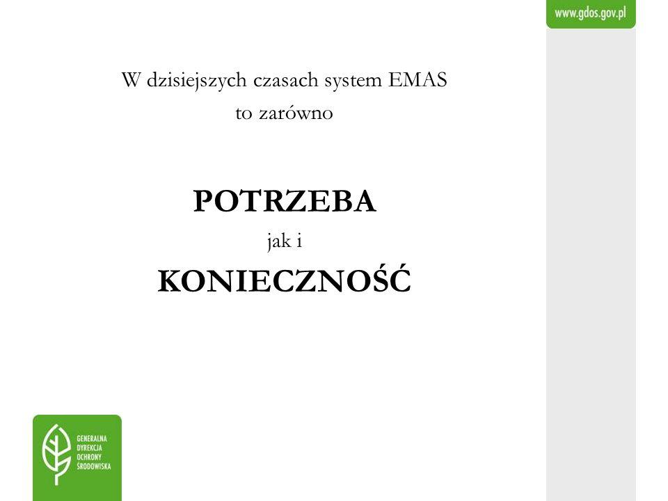 W dzisiejszych czasach system EMAS