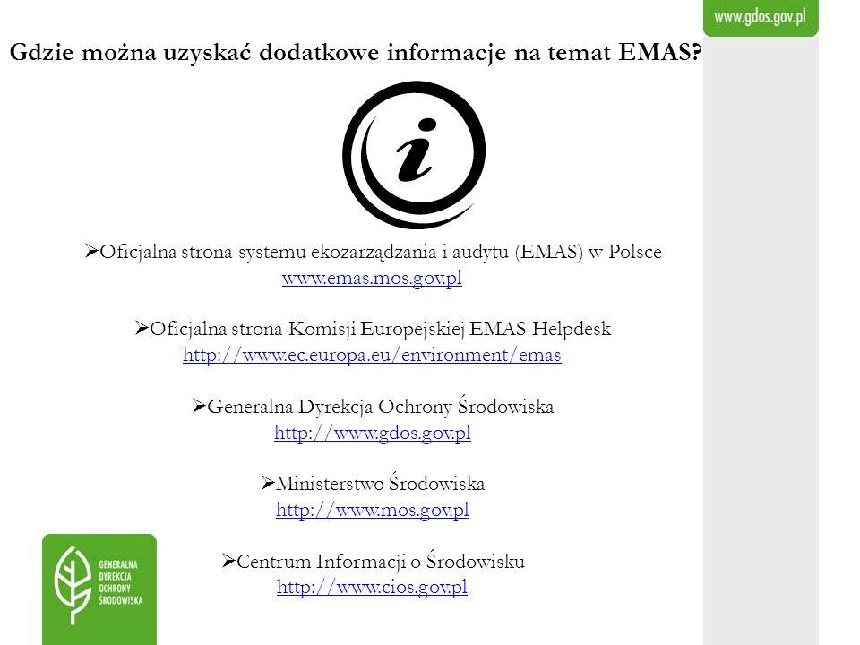 Gdzie można uzyskać dodatkowe informacje na temat EMAS