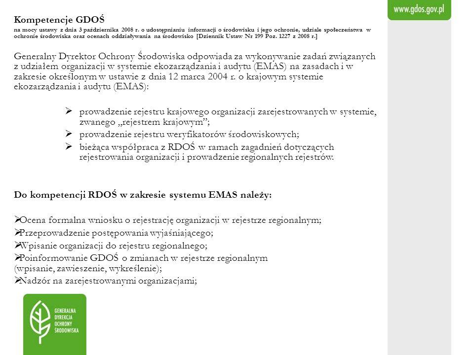 prowadzenie rejestru weryfikatorów środowiskowych;
