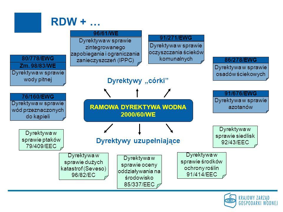 RAMOWA DYREKTYWA WODNA Dyrektywy uzupełniające