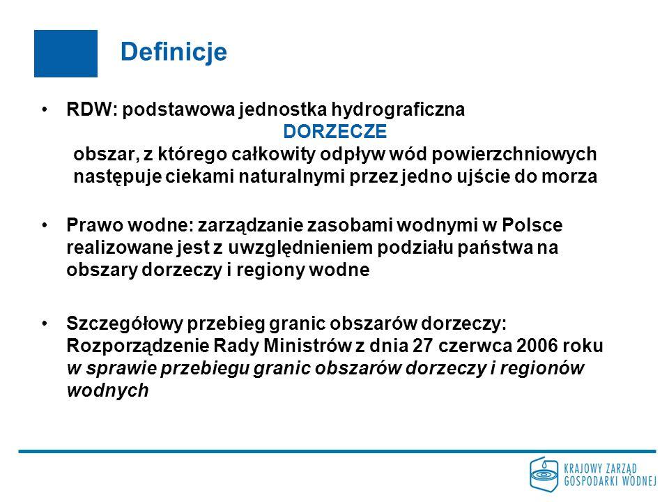 Definicje RDW: podstawowa jednostka hydrograficzna DORZECZE