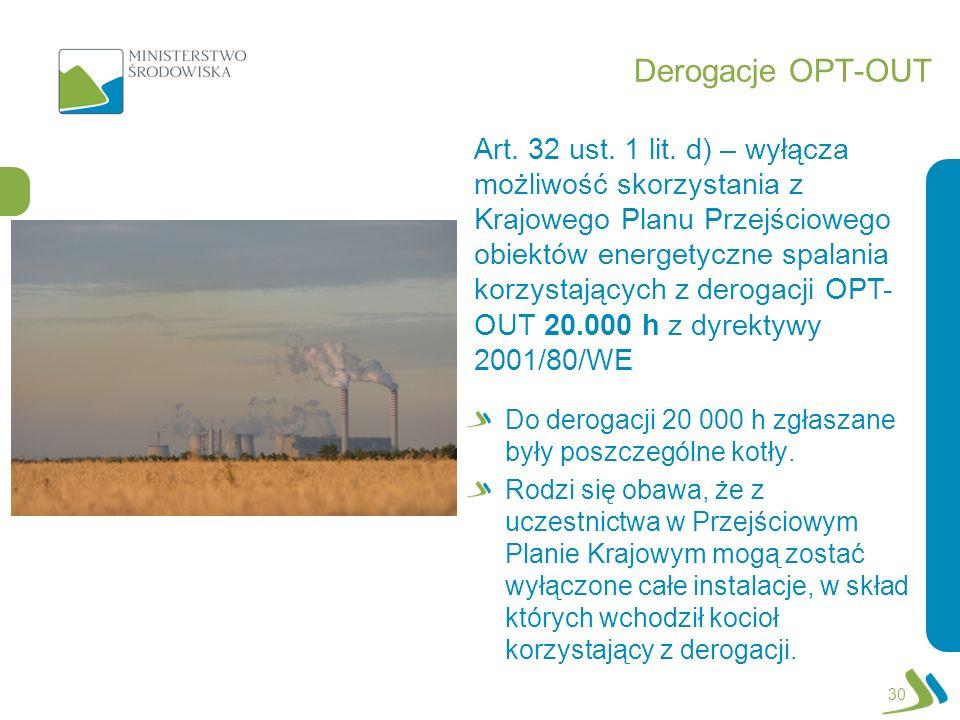 Derogacje OPT-OUT