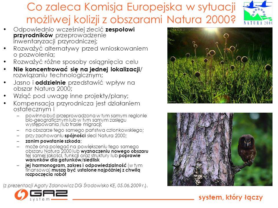 Co zaleca Komisja Europejska w sytuacji możliwej kolizji z obszarami Natura 2000