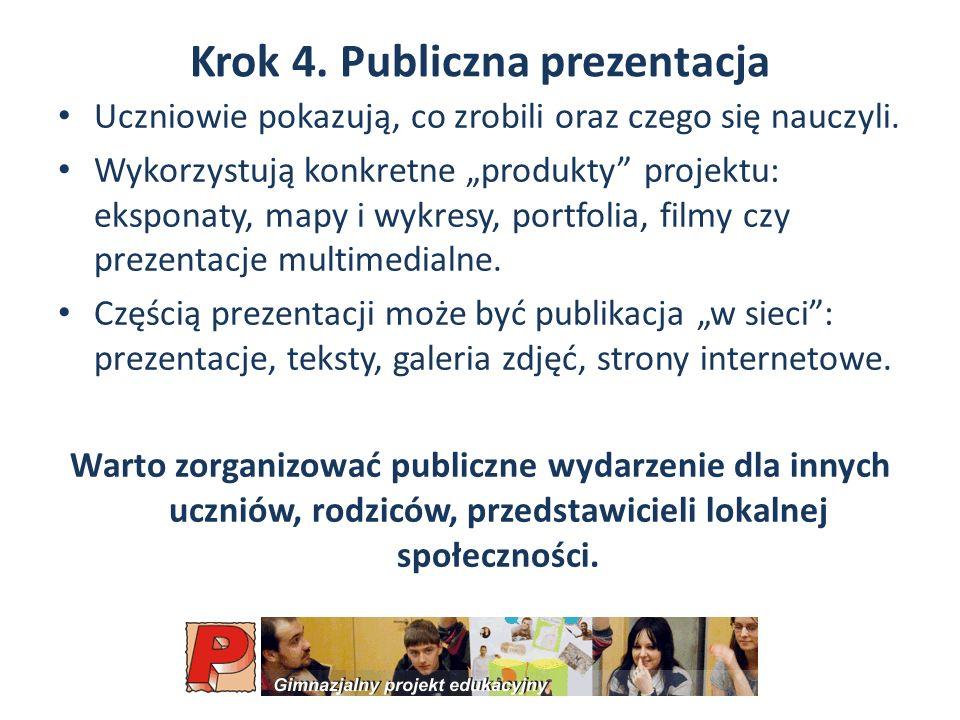 Krok 4. Publiczna prezentacja
