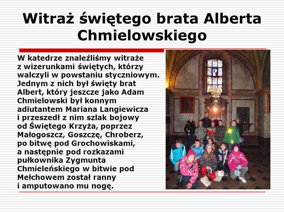 Witraż świętego brata Alberta Chmielowskiego