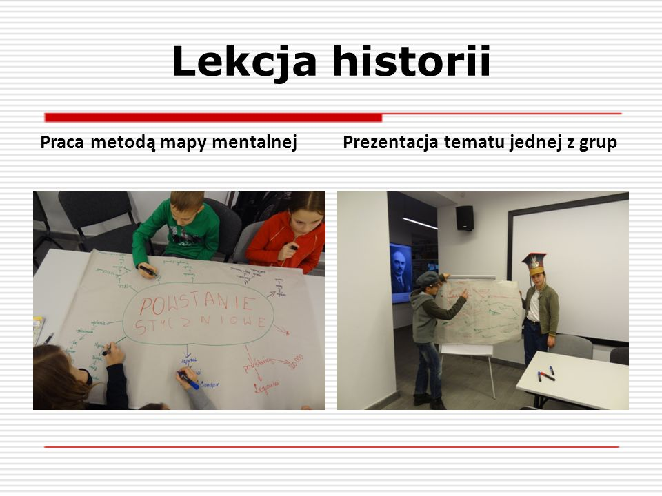 Lekcja historii Praca metodą mapy mentalnej
