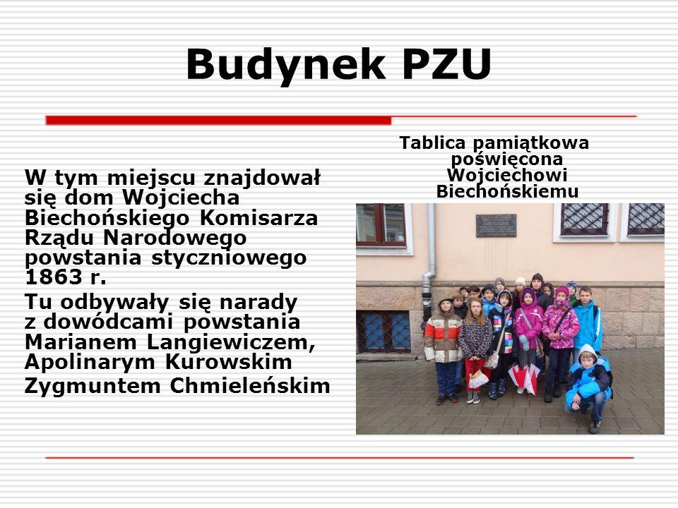 Tablica pamiątkowa poświęcona Wojciechowi Biechońskiemu