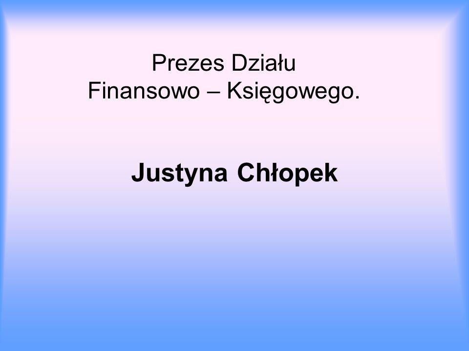 Prezes Działu Finansowo – Księgowego.