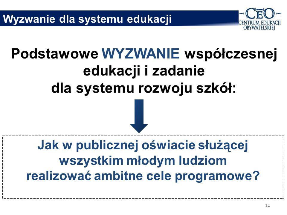 Wyzwanie dla systemu edukacji