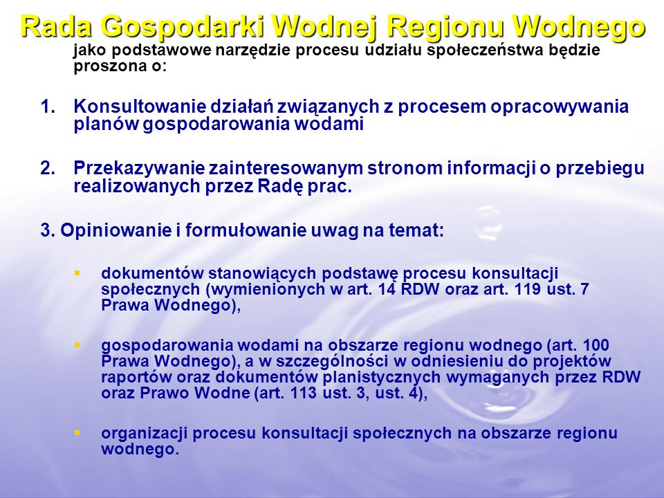 Rada Gospodarki Wodnej Regionu Wodnego