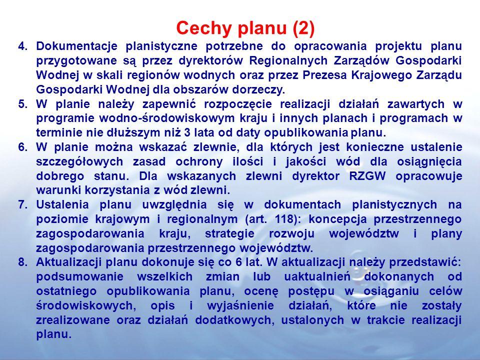 Cechy planu (2)